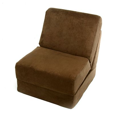 Fun Furnishings Brown Microsuede Teen Sleeper Chair