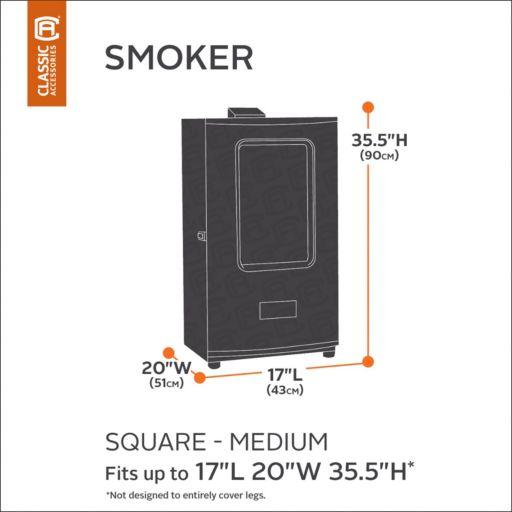 Black Square Smoker Cover