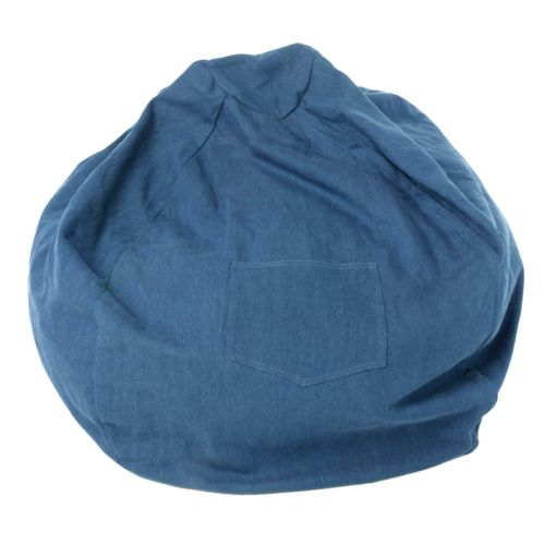 Fun Furnishings Blue Denim Large Beanbag Chair - Teen