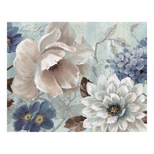 Light Blue Story Soft Canvas Wall Art