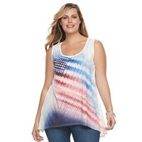 Plus Size World Unity Flag Splitback Tank