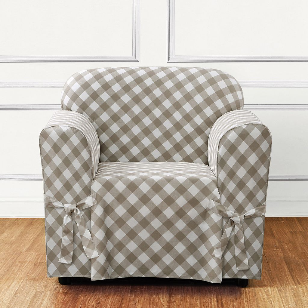 Sure Fit Buffalo Check Chair Slipcover
