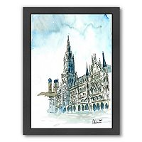 Americanflat Munich City Hall Framed Wall Art
