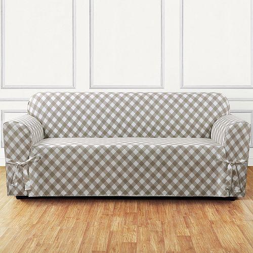 Sure Fit Buffalo Check Sofa Slipcover