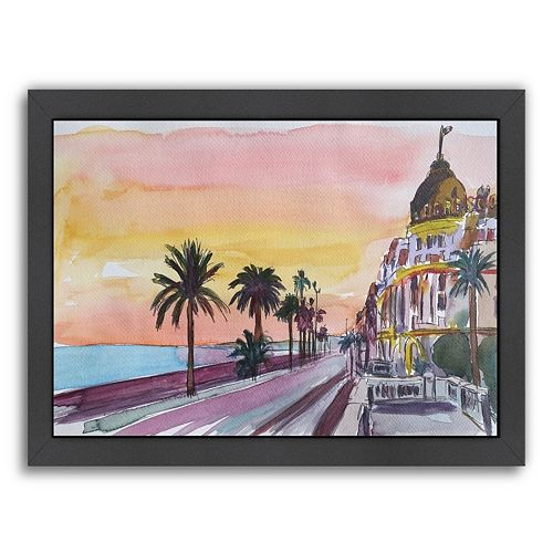 Americanflat Nice, France Seaview Framed Wall Art