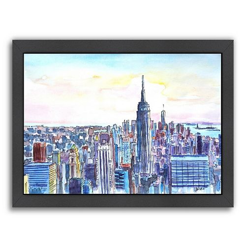 Americanflat NYC Manhattan Skyline Framed Wall Art