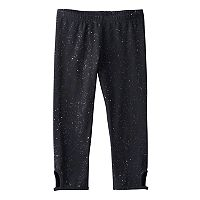 Girls 7-16 & Plus Size SO® Glitter Keyhole Capri Leggings