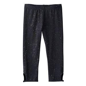 Girls 7-16 & Plus Size SO® Glitter Keyhole Capri Leggings