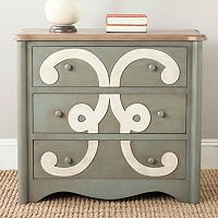 Safavieh Two-Tone Motif 3-Drawer Dresser
