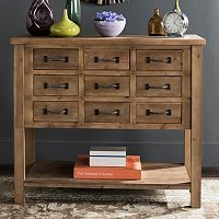 Safavieh Rustic 9-Drawer Storage Cabinet