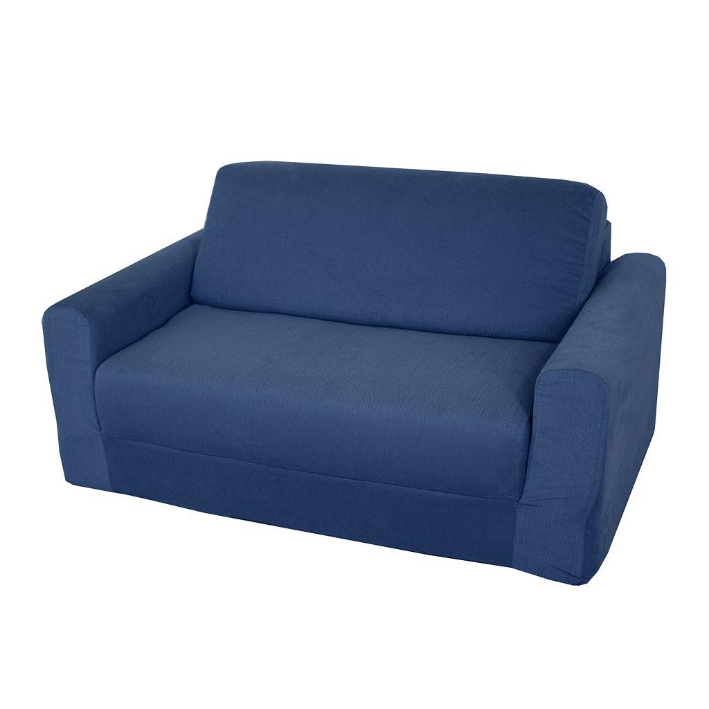 Fun Furnishings Blue Denim Sleeper Sofa - Kids