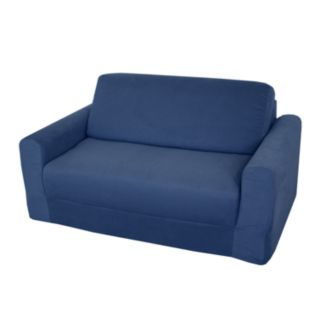 Fun Furnishings Blue Denim Sleeper Sofa - Kids