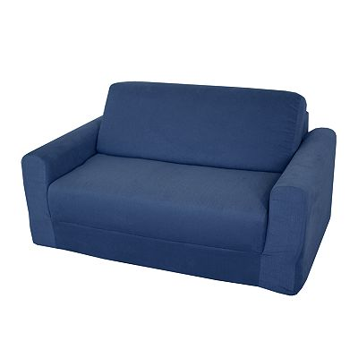 Fun Furnishings Blue Denim Sleeper Sofa