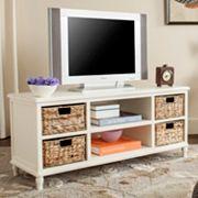 Safavieh Woven Basket & TV Stand 5 pc Set