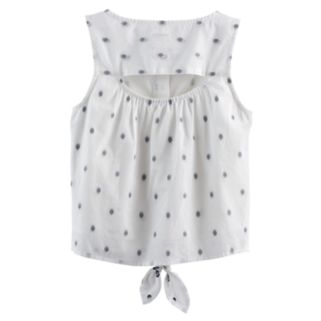 Girls 4-12 SONOMA Goods for Life™ Dot Tie-Front Top