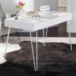 Safavieh Retro White 2-Drawer Desk