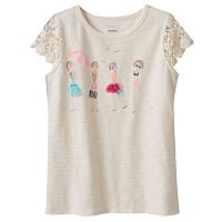 Girls 4-12 SONOMA Goods for Life™ Crochet-Sleeved Tee