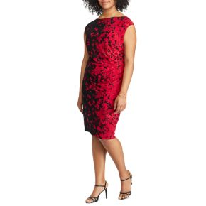 Plus Size Chaps Floral Jersey Sheath Dress