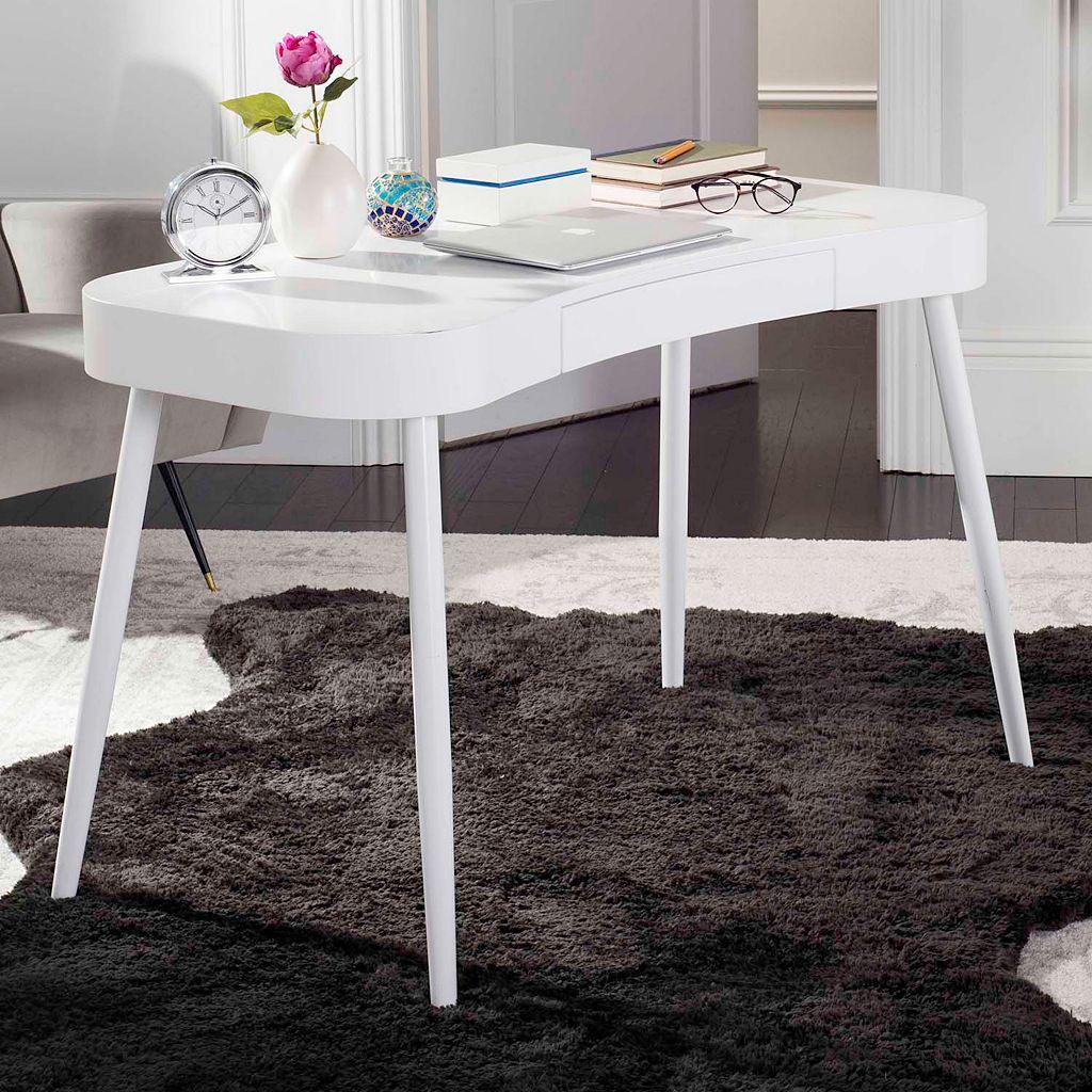 Safavieh White Scandinavian 1-Drawer Desk