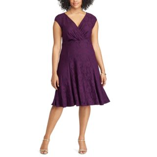 Plus Size Chaps Lace Fit & Flare Dress