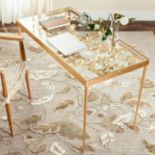 Safavieh Gold Finish Ginkgo Leaf Desk