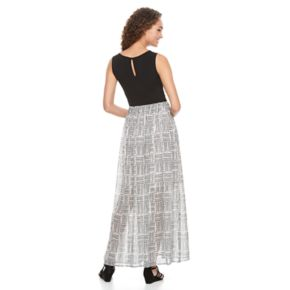 Women's Apt. 9® Colorblock Chiffon Maxi Dress
