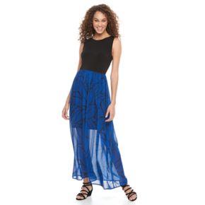 Women's Apt. 9® Colorblock Chiffon Maxi Dress