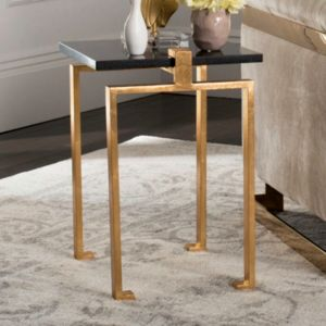 Safavieh Contemporary Gold Finish End Table