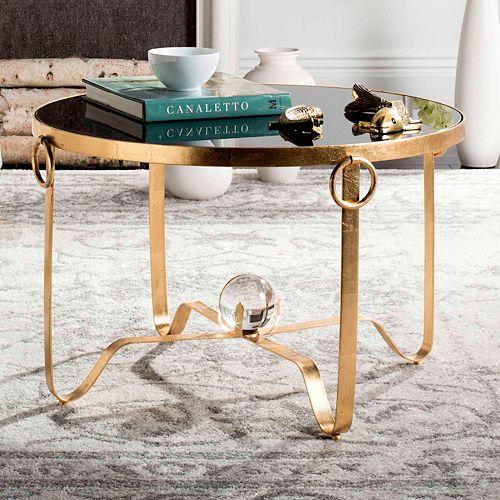 Safavieh Gold Finish Round Coffee Table
