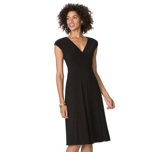 Women's Chaps Solid Empire Dress