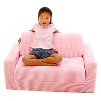Fun Furnishings Pink Chenille Sleeper Sofa - Kids
