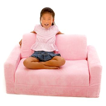 Pink Chenille Sleeper Sofa