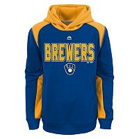 Boys 8-20 Majestic Milwaukee Brewers Geo Fuse Hoodie