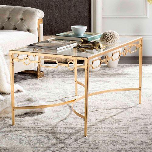 Safavieh Gold Finish Contemporary Coffee Table