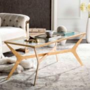 Safavieh Contemporary Gold Leaf Finish Coffee Table