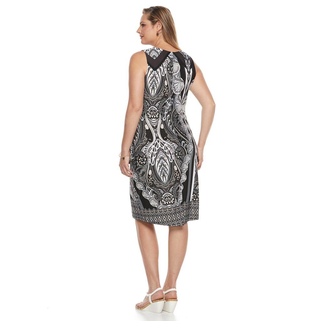 Plus Size World Unity Wrap Overlay Dress