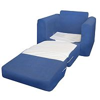 Fun Furnishings Blue Microsuede Sleeper Chair - Kids