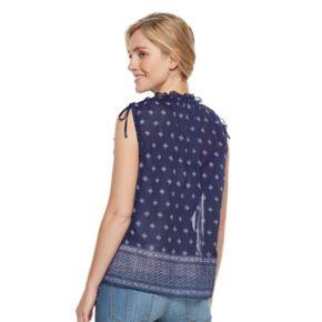 Women's SONOMA Goods for Life™ Print Pintuck Top