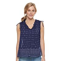 Women's SONOMA Goods for Life™ Print Pintuck Top