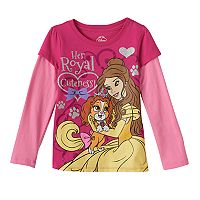 Girls 4-6x Disney Princess Palace Pets Belle & Teacup Tee