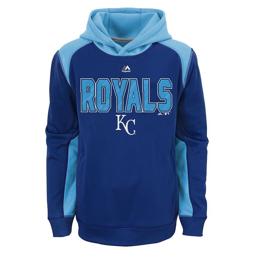 Boys 8-20 Majestic Kansas City Royals Geo Fuse Hoodie