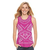 Women's SONOMA Goods for Life™ Embroidered Eyelet Tank