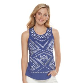 Women's SONOMA Goods for Life? Embroidered Eyelet Tank