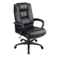 Office Star Products Deluxe High Back Executive Leather Chair