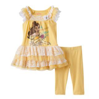 Disney's Beauty and the Beast Toddler Girl Belle Dress & Leggings Set