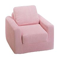 Fun Furnishings Pink Chenille Sleeper Chair - Kids