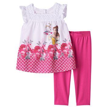 Disney's Beauty & The Beast Belle, Mrs. Potts & Chip Toddler Girl Blouse & Capri Leggings Set