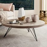 Safavieh Rustic Contemporary Round Coffee Table