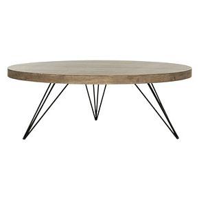 Safavieh Rustic Contemporary Round Coffee Table