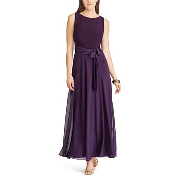Women's Chaps Mixed-Media Evening Gown